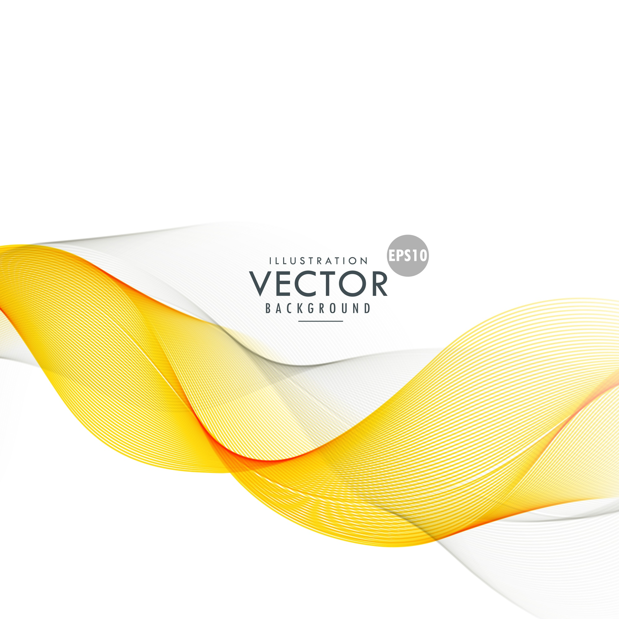 Yellow abstract wave background design