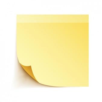 노란색 접착 메모