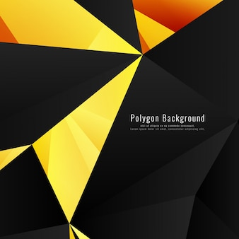 Yellow and black geometric background