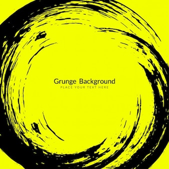 Yellow and black grunge background