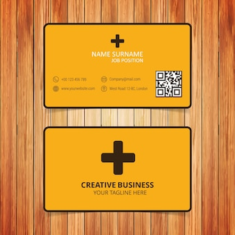 Yellow and black healthcare business card