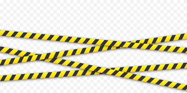노란색과 검은 색 줄무늬. 주의 테이프 개념.