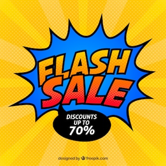 Yellow and blue flash sale background