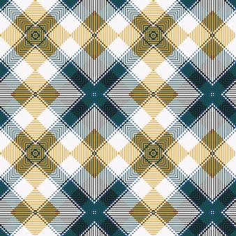 노란색과 파란색 스코틀랜드 타탄 질감 배경
