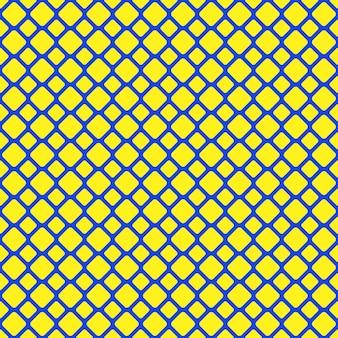 黄色と青のシームレスな丸い四角い格子パターンの背景 - ベクトルグラフィック
