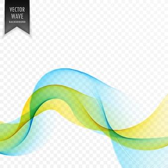 黄色と青の滑らかな波のベクトルの背景