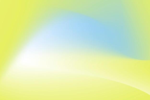 노란색과 파란색 물결 그라데이션 배경 벡터 무료 벡터