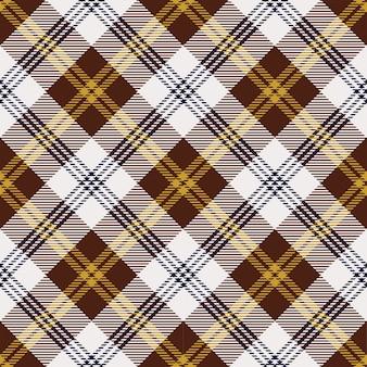 黄色と茶色のスコットランドチェックパターン
