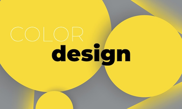 노란색과 회색 기하학적 배경