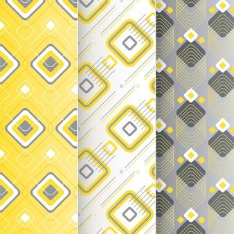 노란색과 회색 기하학적 패턴 컬렉션
