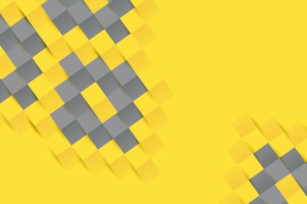 노란색과 회색 종이 스타일 배경