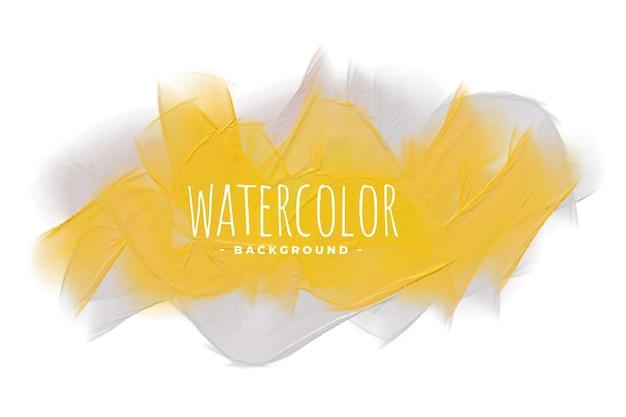 Желтый и серый оттенок акварельной текстуры фона