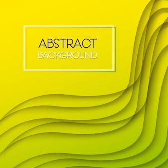 黄色と緑の抽象的な背景