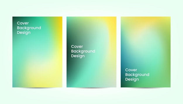 黄色と緑のダイナミックな抽象的なグラデーションカラーカバーの背景デザイン。