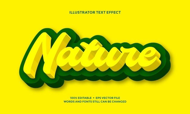 노란색과 녹색 텍스트 효과 대담한 현대 자연