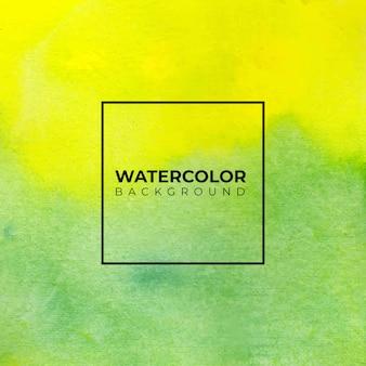 Желтая и зеленая акварель мыть текстуры. абстрактный фон