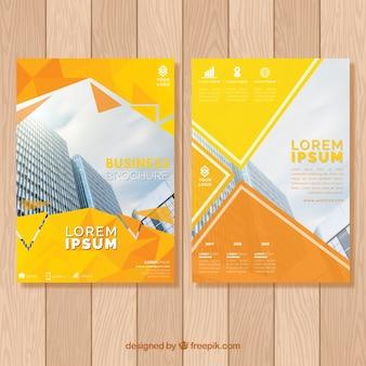 Yellow and orange brochure concept