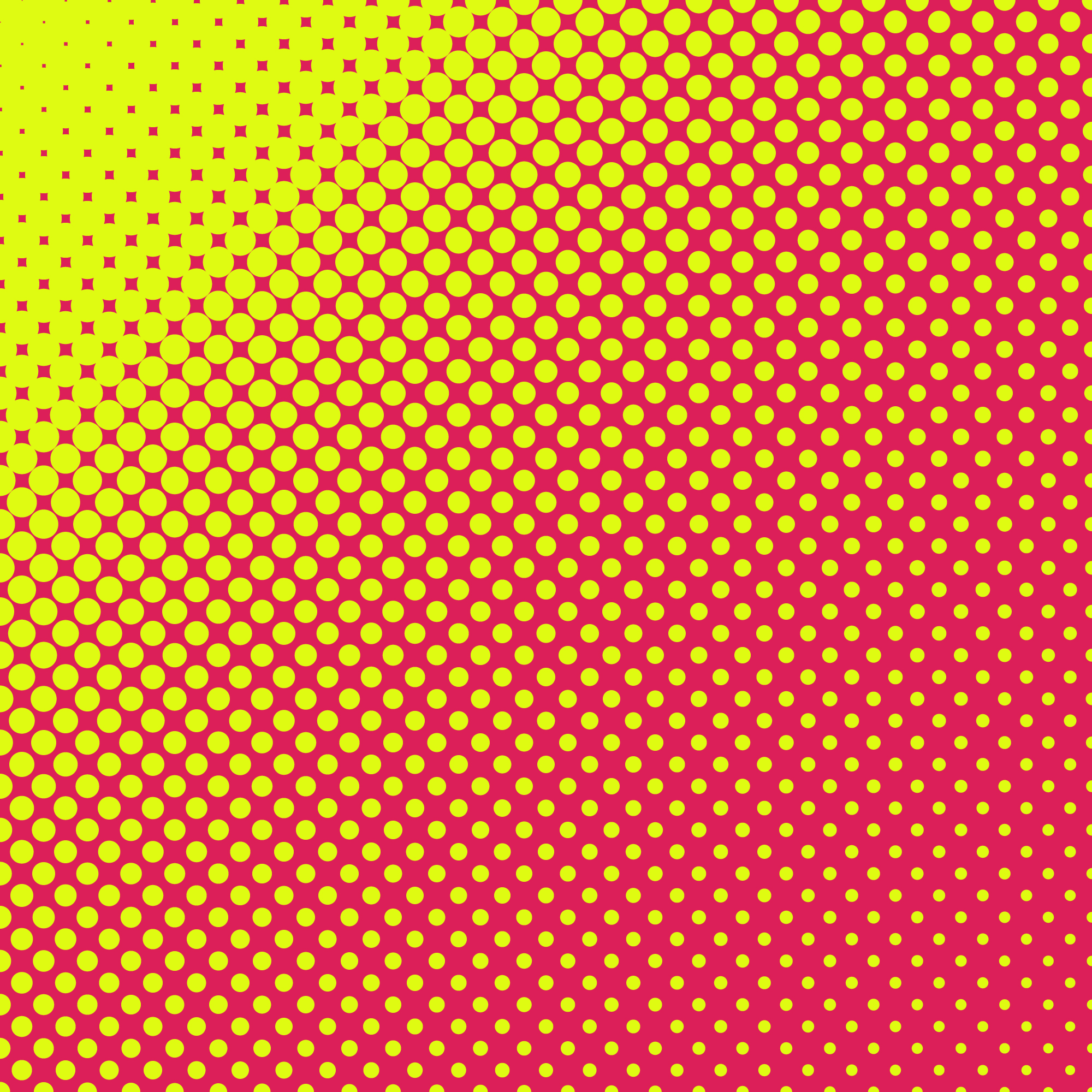 Yellow and pink halftoned dots background