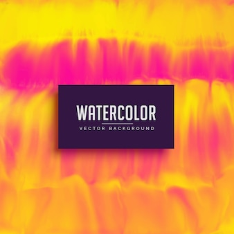 Желтый и розовый фон текстуры акварели