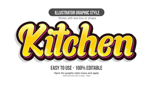 노란색과 빨간색 3d 현대 서예 글꼴