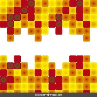 노란색과 빨간색 추상적 인 배경