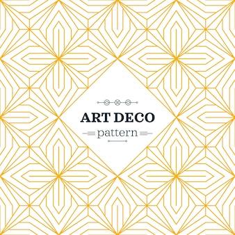 Yellow art deco pattern