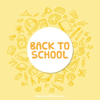 Yellow background for back to school