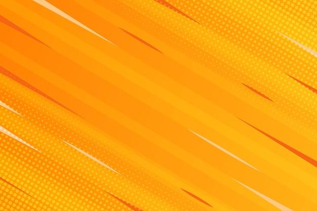 黄色の背景コミックスタイル