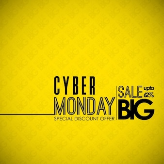 Yellow background, cyber ​​monday, sales