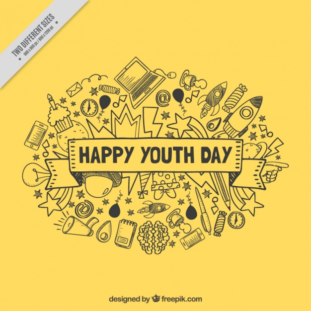 Yellow background for youth day