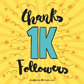 Желтый фон проведение 1k последователей