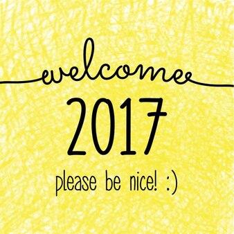Yellow background new year 2017