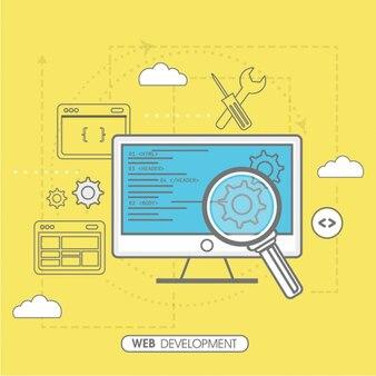 Желтый фон веб-разработки