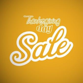 黄色の背景、販売、感謝祭
