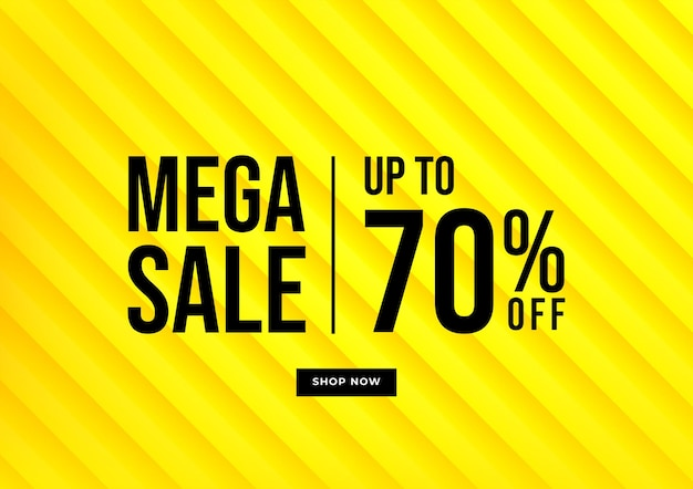 Yellow background special offers and promotion template design.