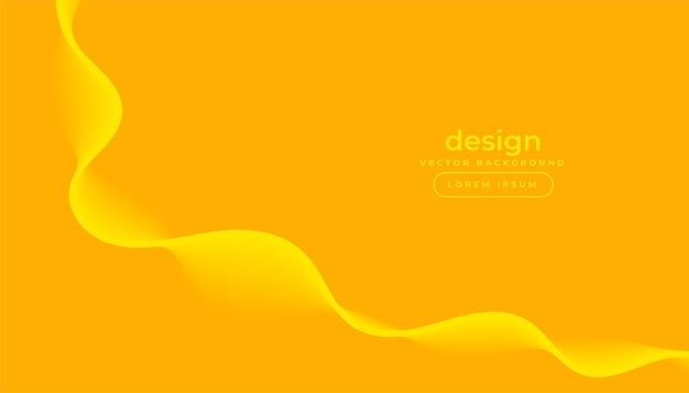 Yellow background with curvy flowing wave design