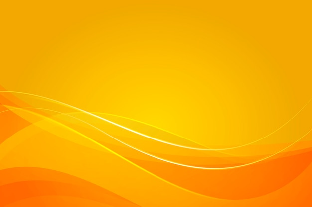 Yellow background with dynamic abstract shapes