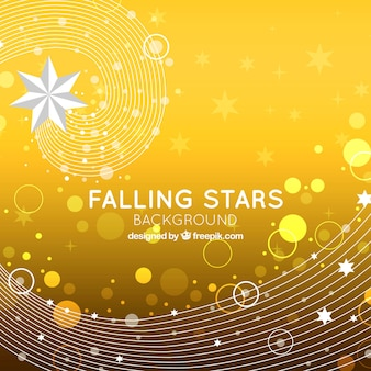 Yellow background with falling stars