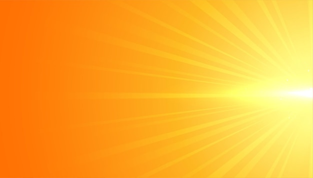Yellow background with flare rays effect