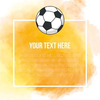 サッカーと黄色の背景