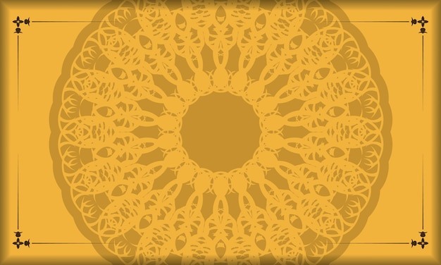 Yellow background with greek brown pattern for design under your text