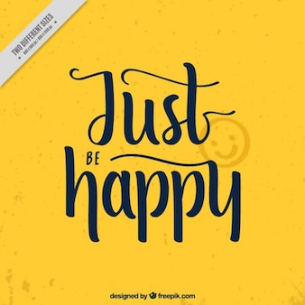 Yellow background with motivational quote