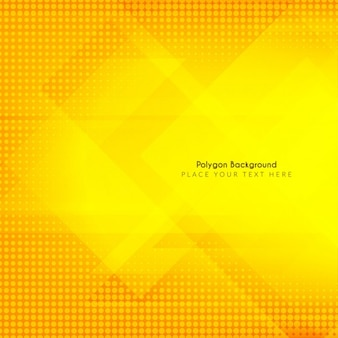 Yellow background with polygon shapes and halftone