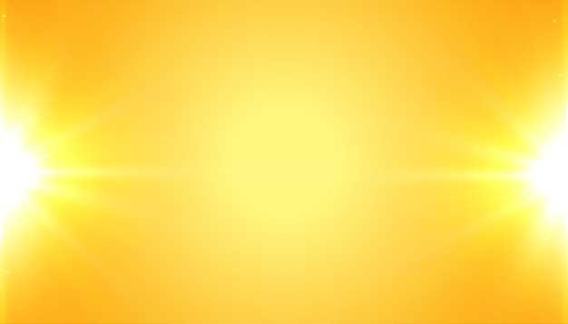 Yellow background with shiny glowing light effect