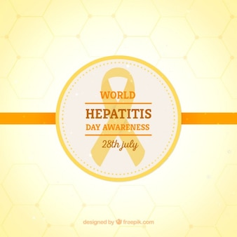 Yellow background of world hepatitis day