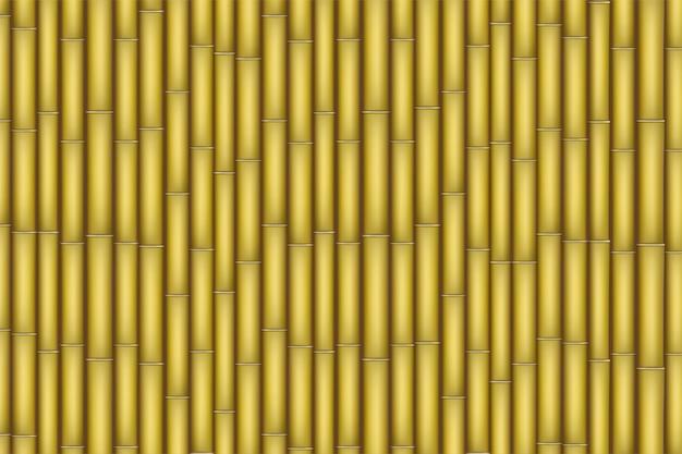 フラットなデザインの黄色の竹のテクスチャ