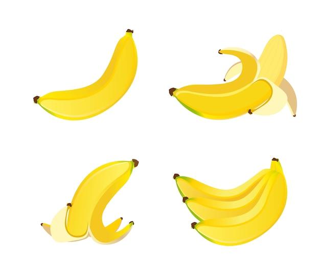 Yellow banans isolated