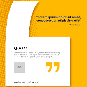 Yellow banner for quote