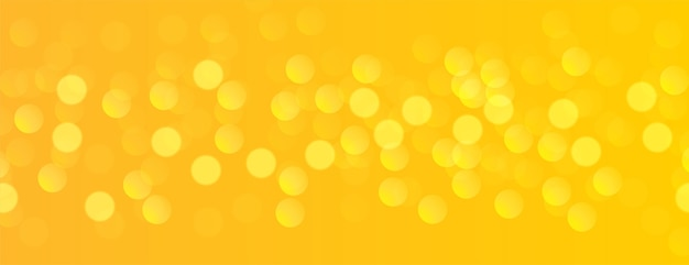 Yellow banner with bokeh light effect