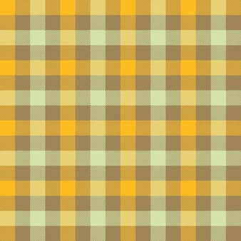 Yellow beige check tablecloth seamless pattern